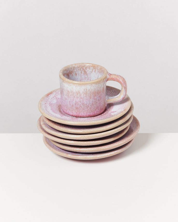Cordoama 6er Set Espresso-Untertasse rosé
