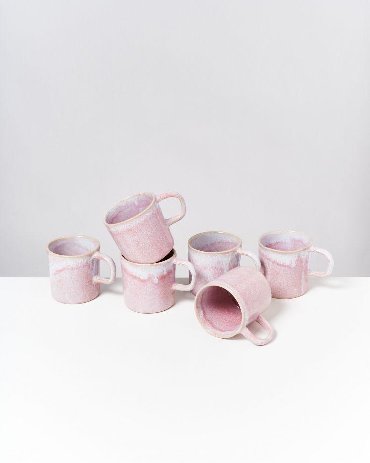 Cordoama 6er Set Tasse groß rosé