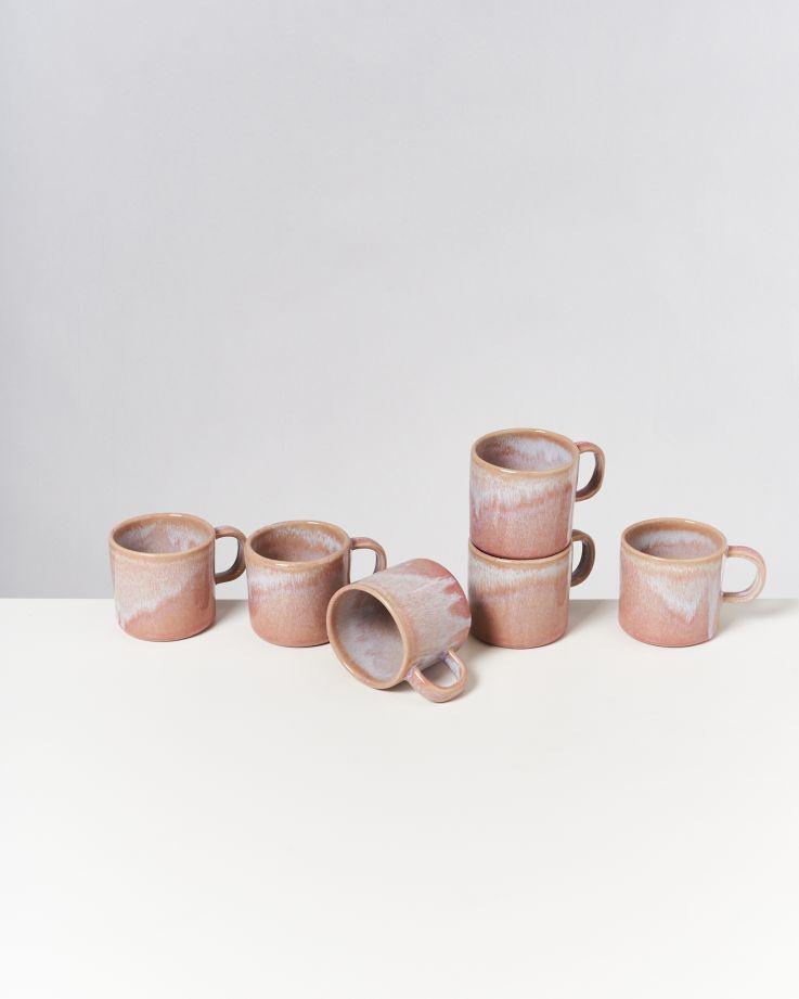 Cordoama 6er Set Tasse rose