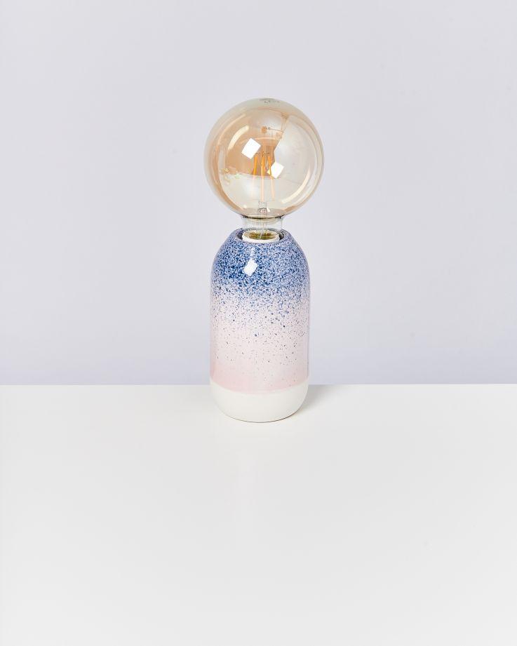 Farol Lampe blau gesprenkelt