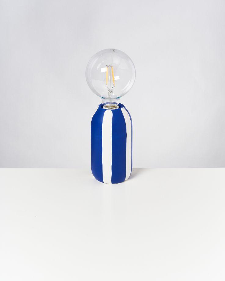Farol Lampe blau gestreift