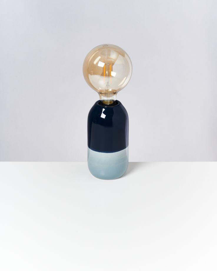 Farol Lampe navy hellblau