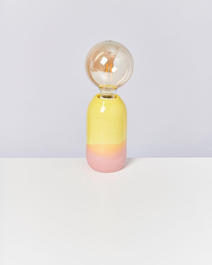 Farol Lampe gelb rose