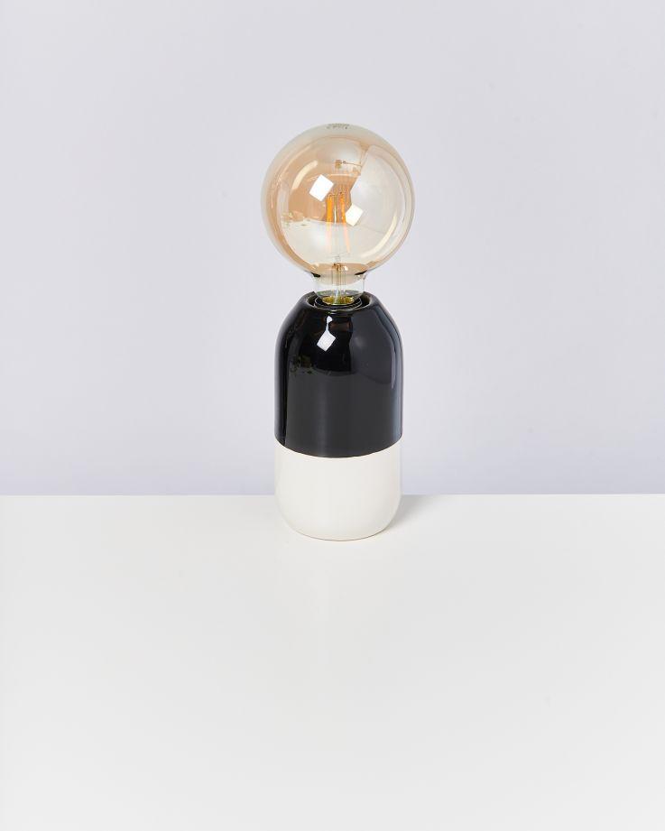 Farol Lampe schwarz weiß