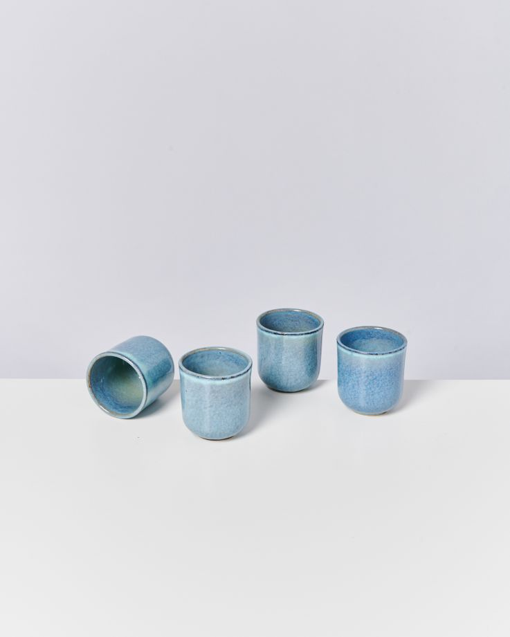 Lua 4er Set Becher klein blau