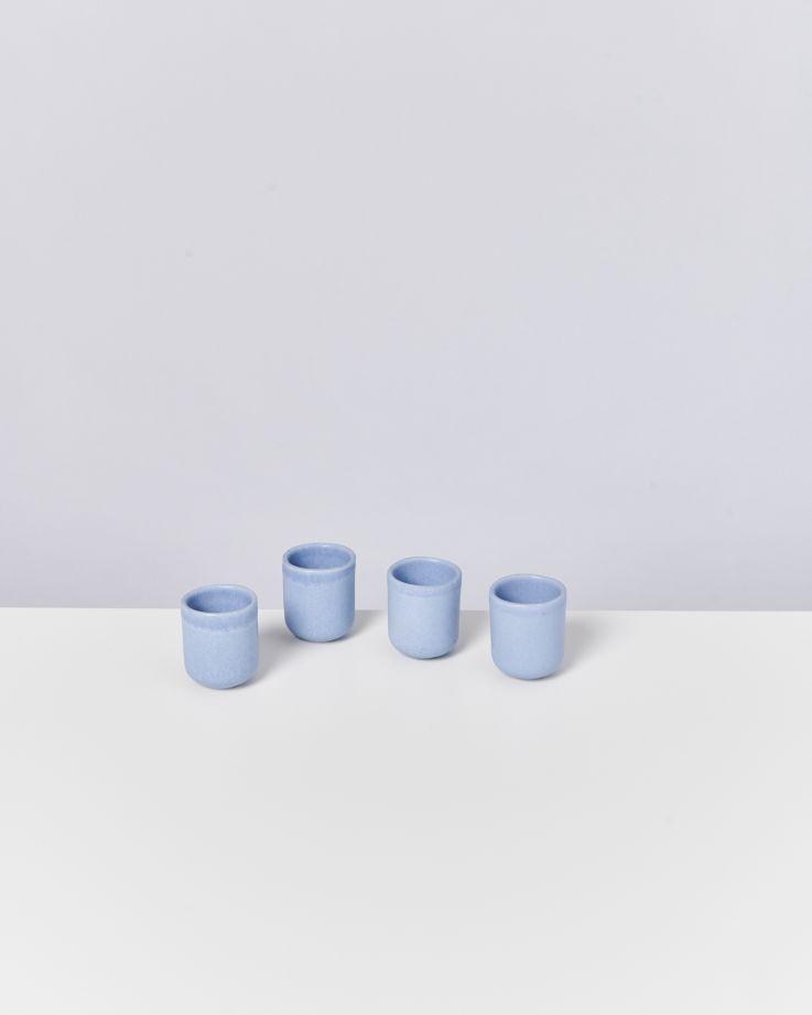 MACIO - Set of 4 Espressocups lightblue