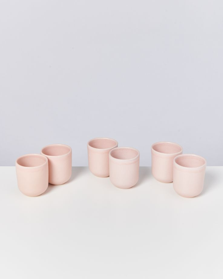 MACIO - Set of 6 Cups small rose