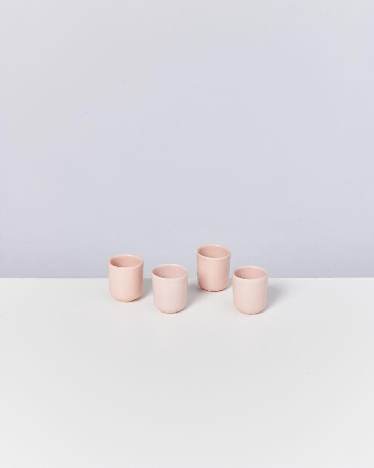Macio 4er Set Espressobecher rose
