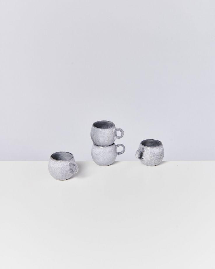 Mae 4er Set Espressotasse grau