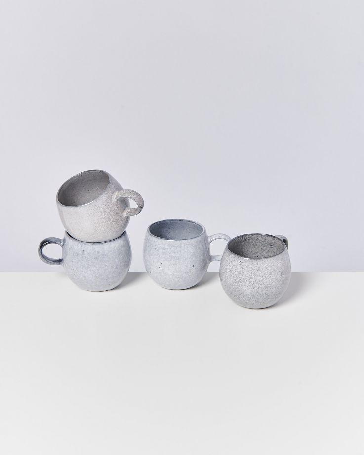Mae 4er Set Tasse groß grau