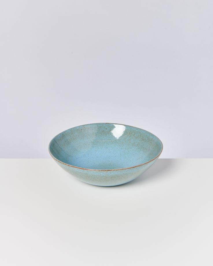 MAE - Servingbowl big flat turquoise