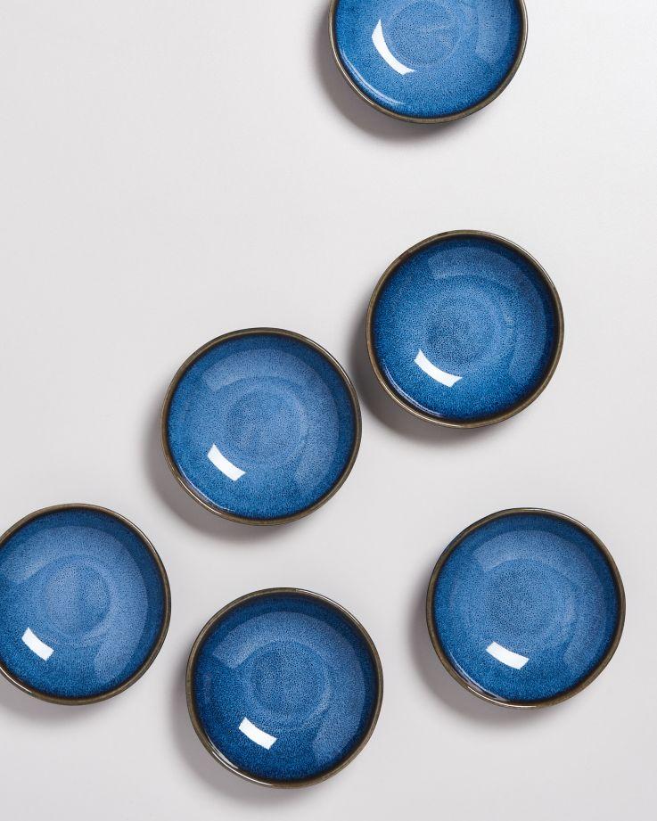 Melides Miniteller tief blau