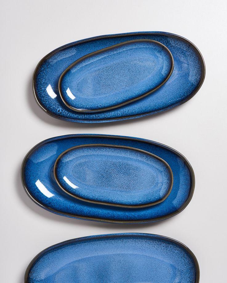 Melides Servierplatte L blue