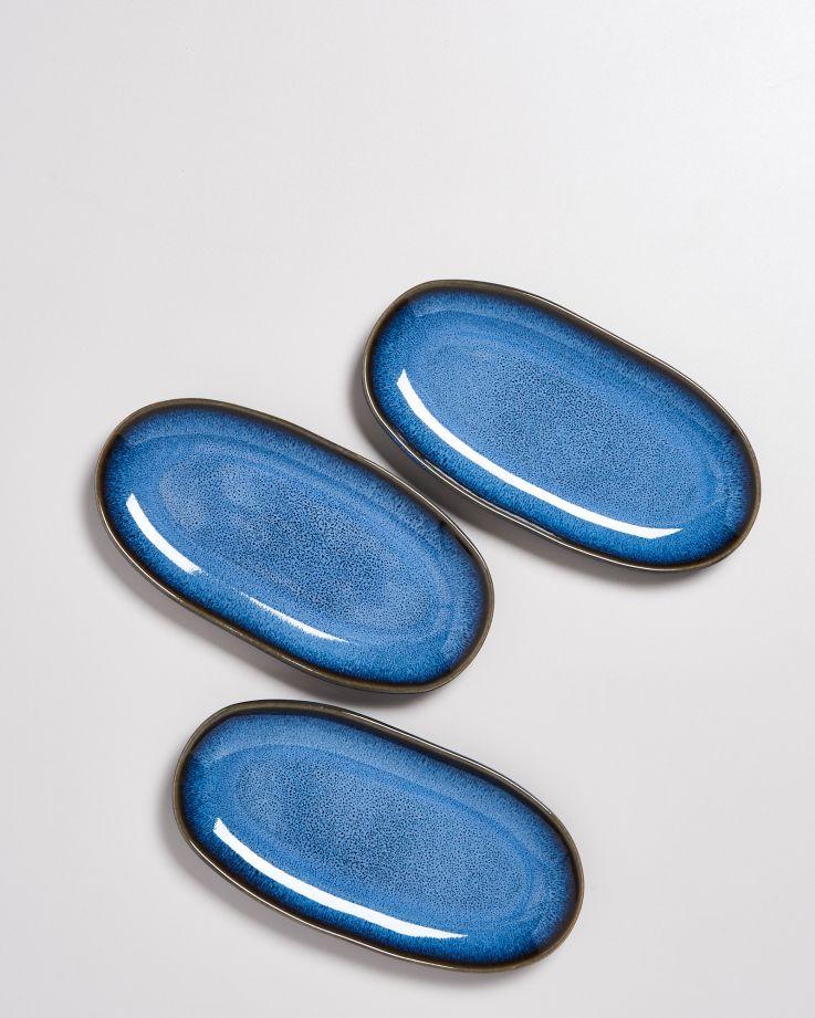 Melides Servierplatte M blue