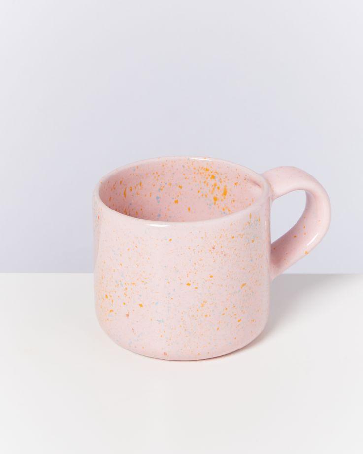 Nódoa Tasse rosa gesprenkelt