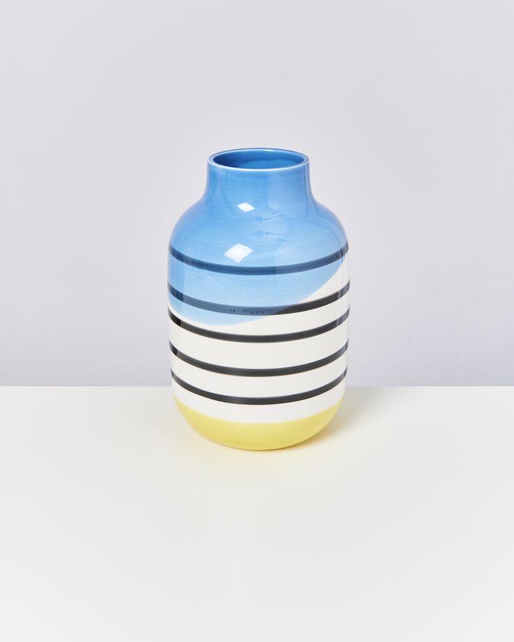 Nuno L schwarz-weiß gestreift mit blau