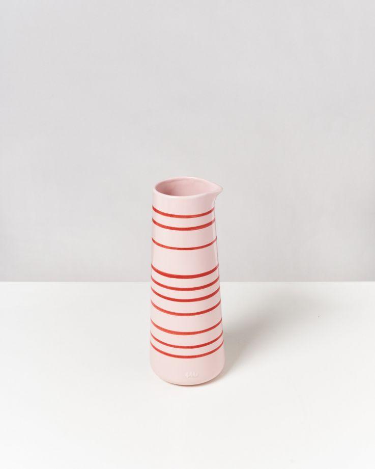 Pinguim Karaffe rosé-rot gestreift