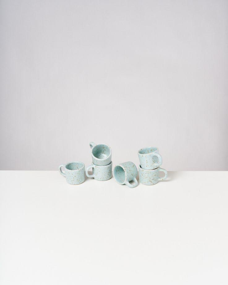 Tavira 6er Set Espressotasse mint dots
