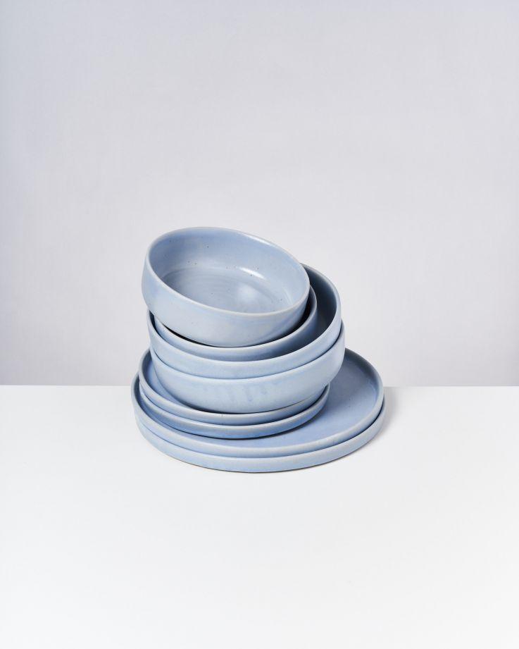 TAVIRA - Set of 8 pieces pastel blue