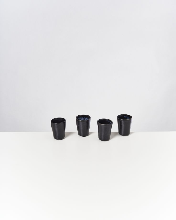 Turmalina 4er Set Espressobecher schwarz