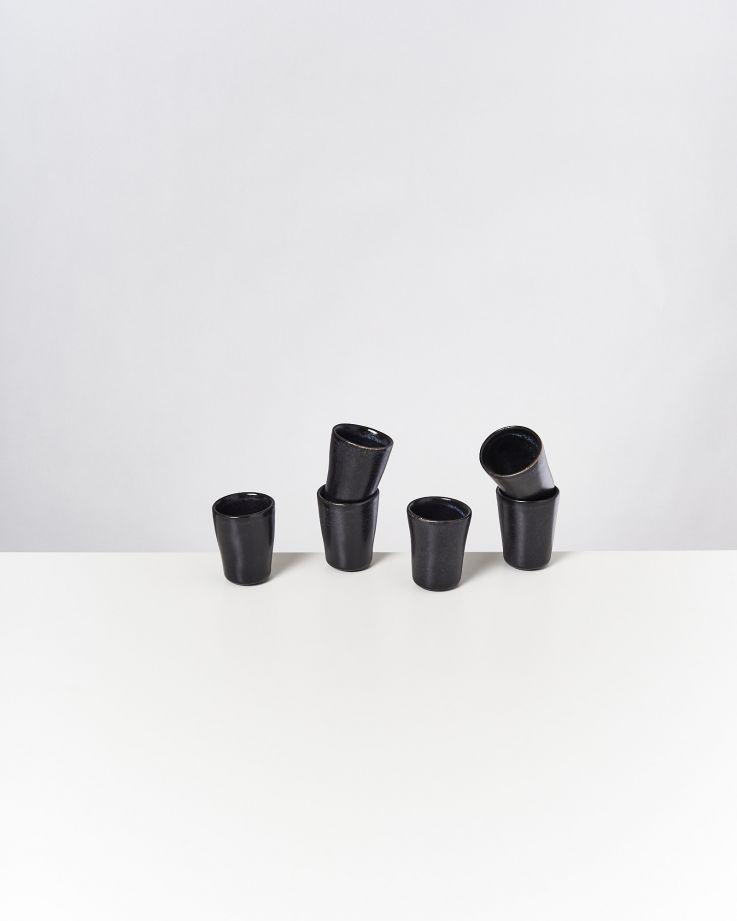 Turmalina 6er Set Espressobecher schwarz