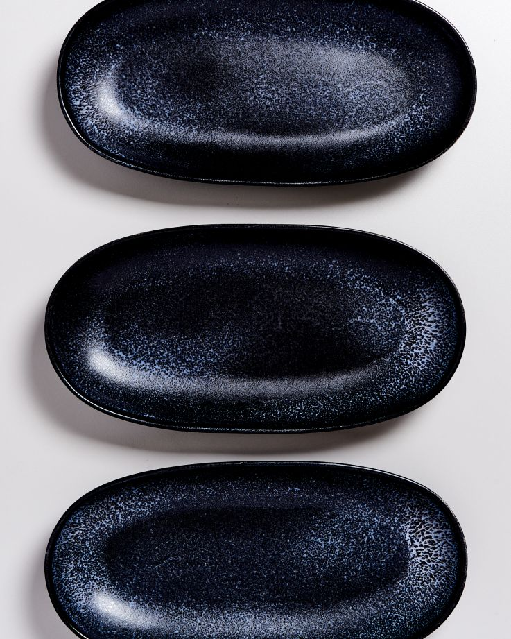 TURMALINA - Serving Platter L black