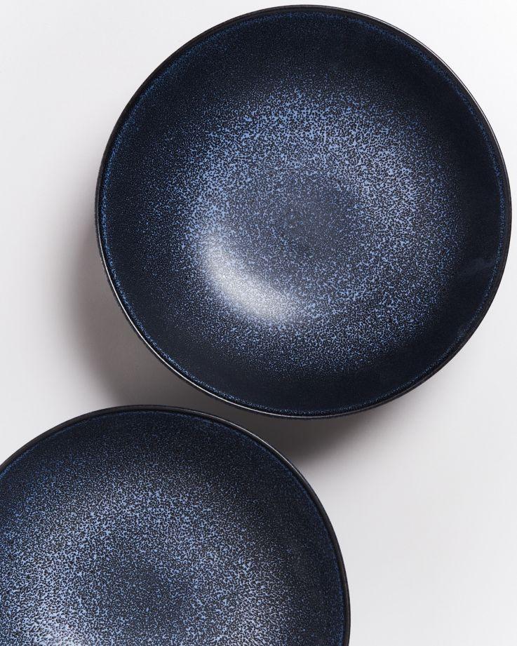 Turmalina Servierschale groß flach schwarz