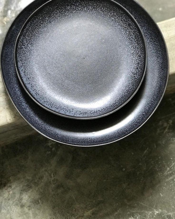 Turmalina Teller groß schwarz