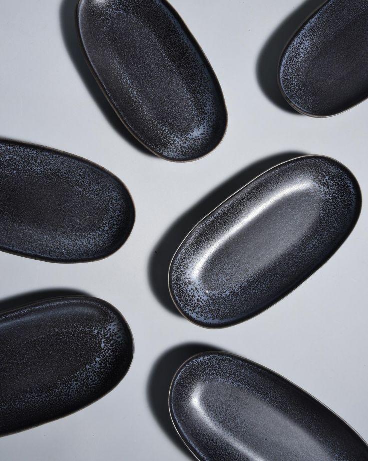Turmalina Servierplatte M schwarz