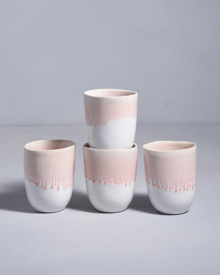Alachofra 4er Set Becher peach