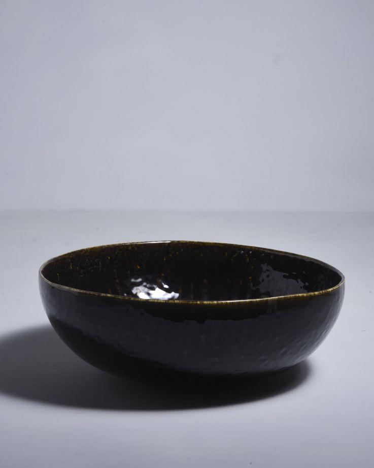 Alachofra Servierschale tief schwarz