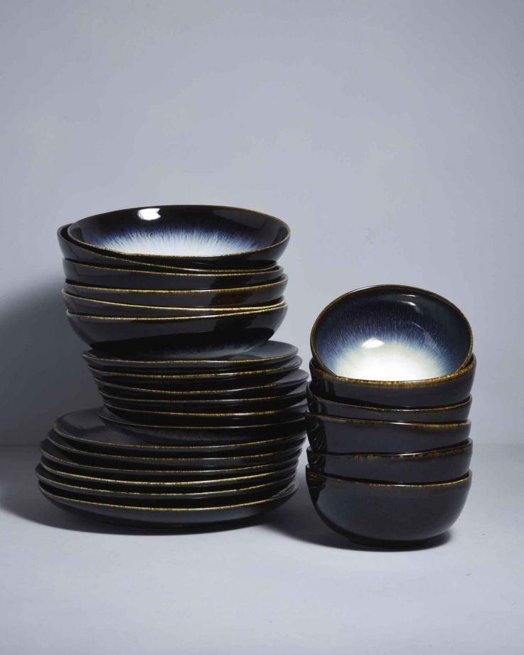 Alcachofra schwarz - 24 teiliges Set