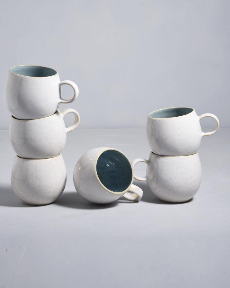 AREIA - Set of 6 Cups big aqua