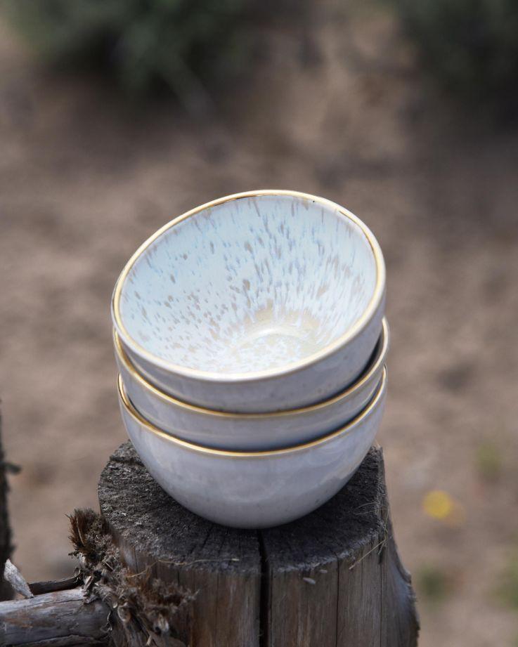 Areia Saucenschälchen azur mit Gold