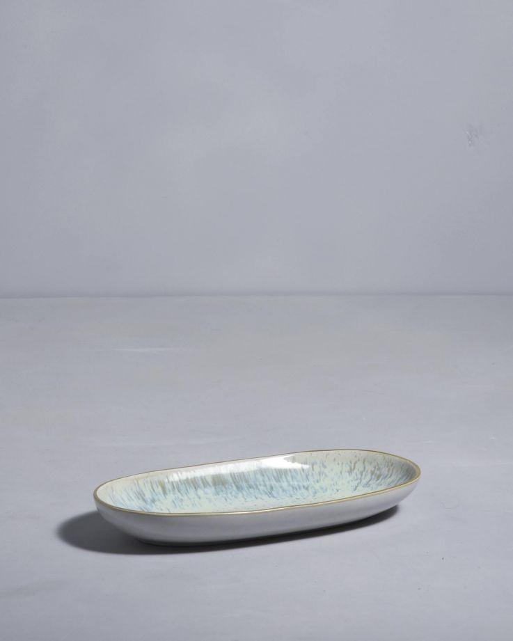Areia Servierplatte M mit Goldrand mint