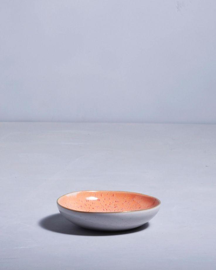 Areia Miniteller mit Goldrand pink