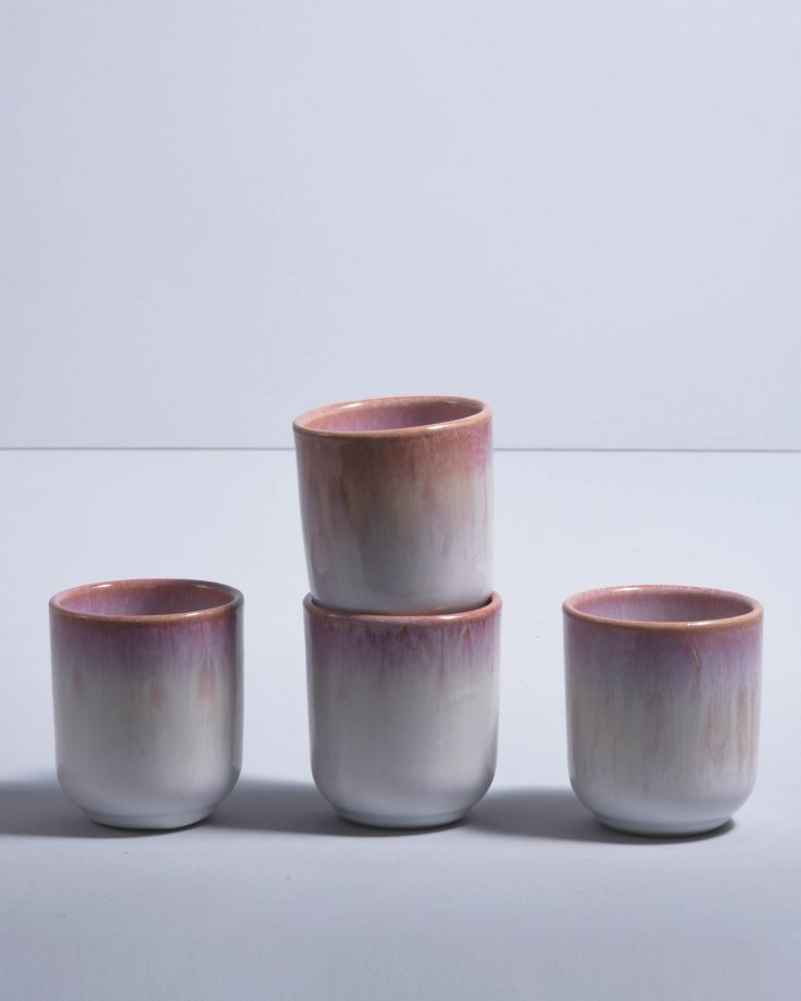 COPA ALTO - Set of 4 Mugs small rose white