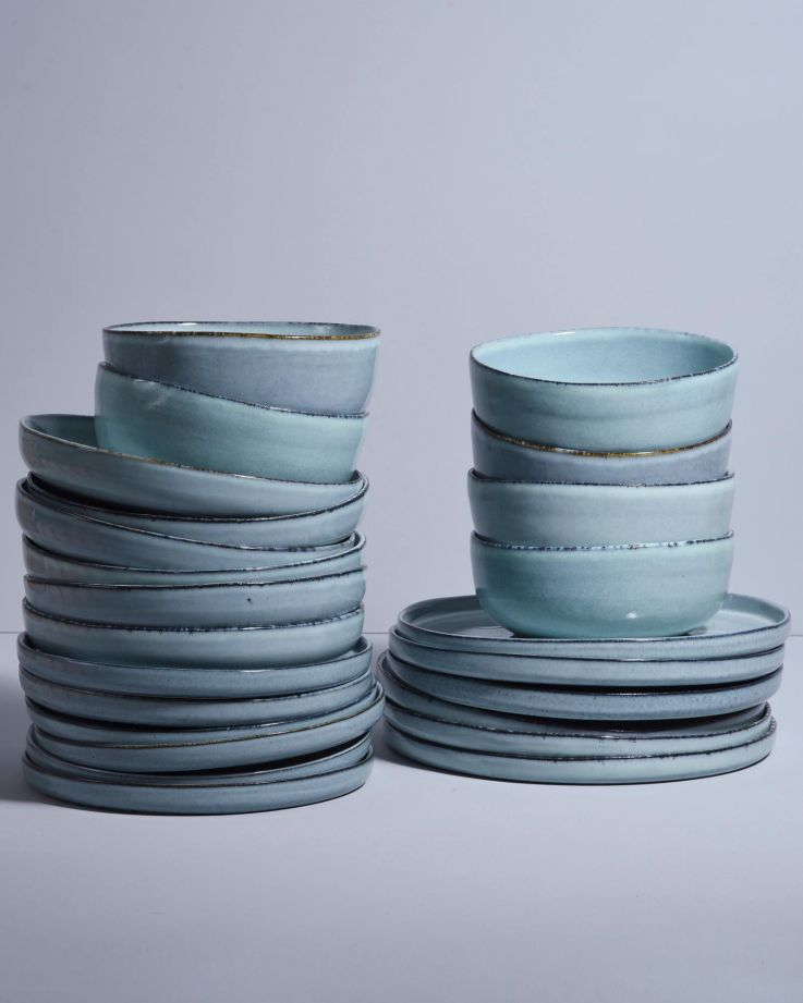 LUA blue - Set of 24 pieces