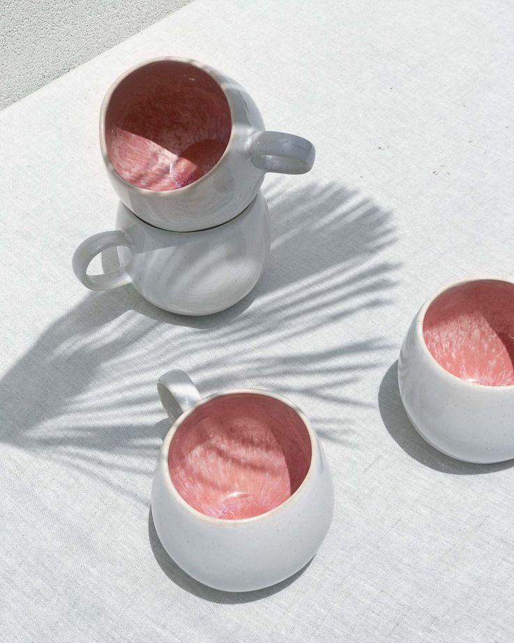 Areia Tasse groß pink