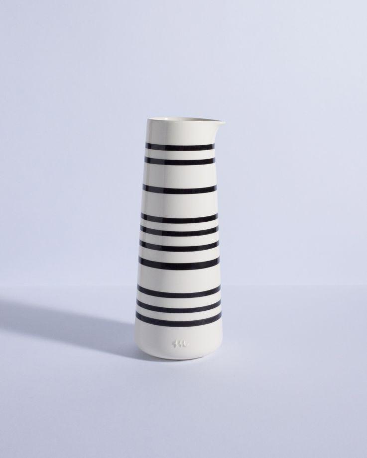 Pinguim Karaffe weiß/schwarz