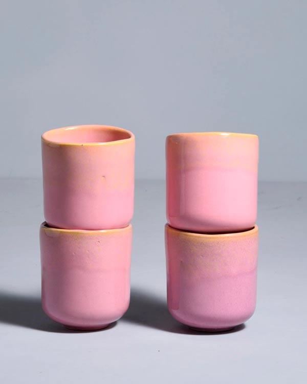 Copa Alto 4er Set Becher klein gelb rosé