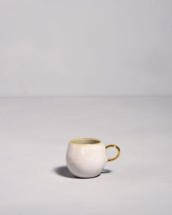 Areia - Espressotasse azur mit Gold 2
