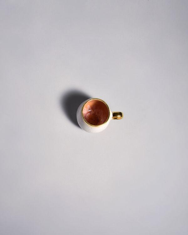 Areia - Espressotasse pink mit Gold 2