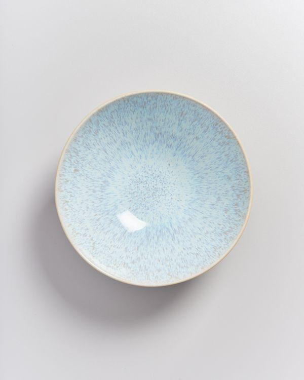 AREIA - Servingbowl flat small azure 2