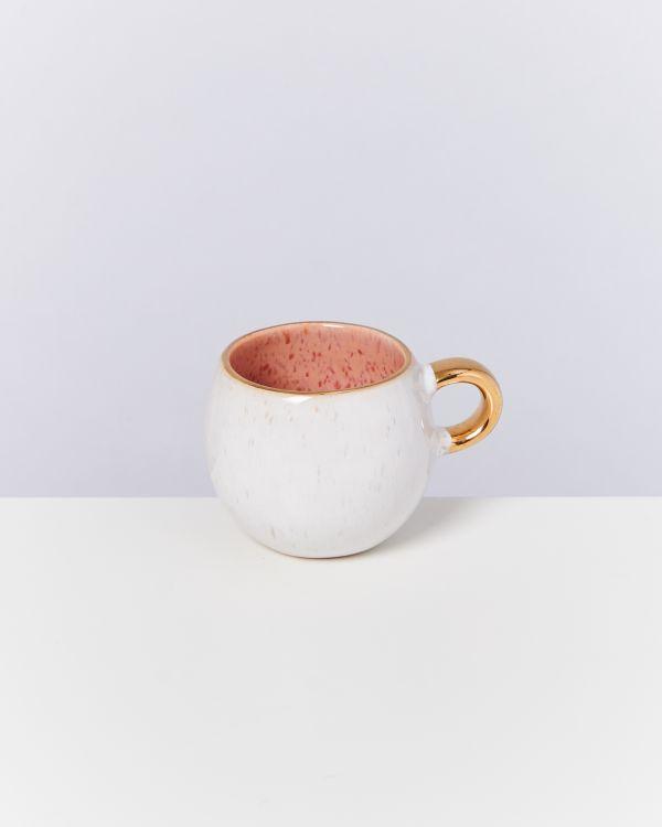 Areia 4er Set Espressotasse pink mit Gold 2