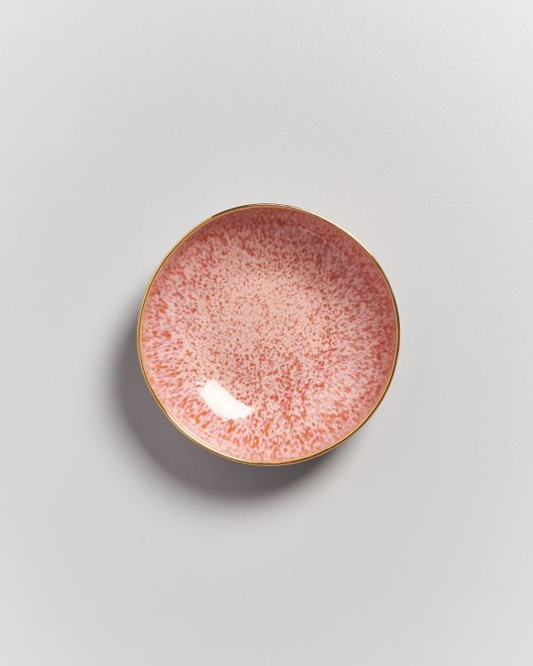 AREIA - Mini Plate deep pink with gold rim 2