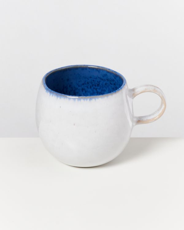 AREIA - Set of 4 Mugs big royal blue 2