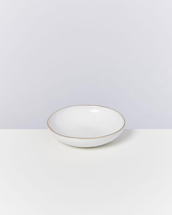 AREIA - Mini plate white with gold rim 2