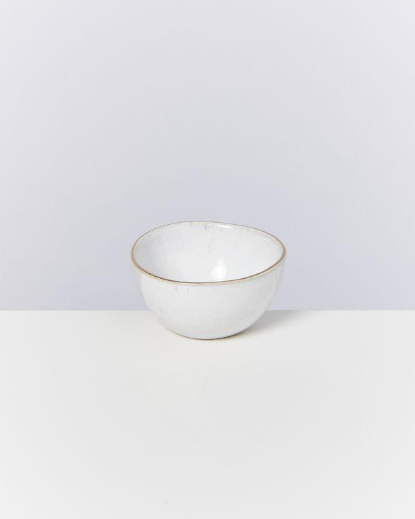 AREIA - Saucebowl white with golden rim 2