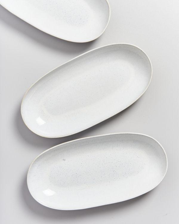 Areia Servierplatte L weiß 2